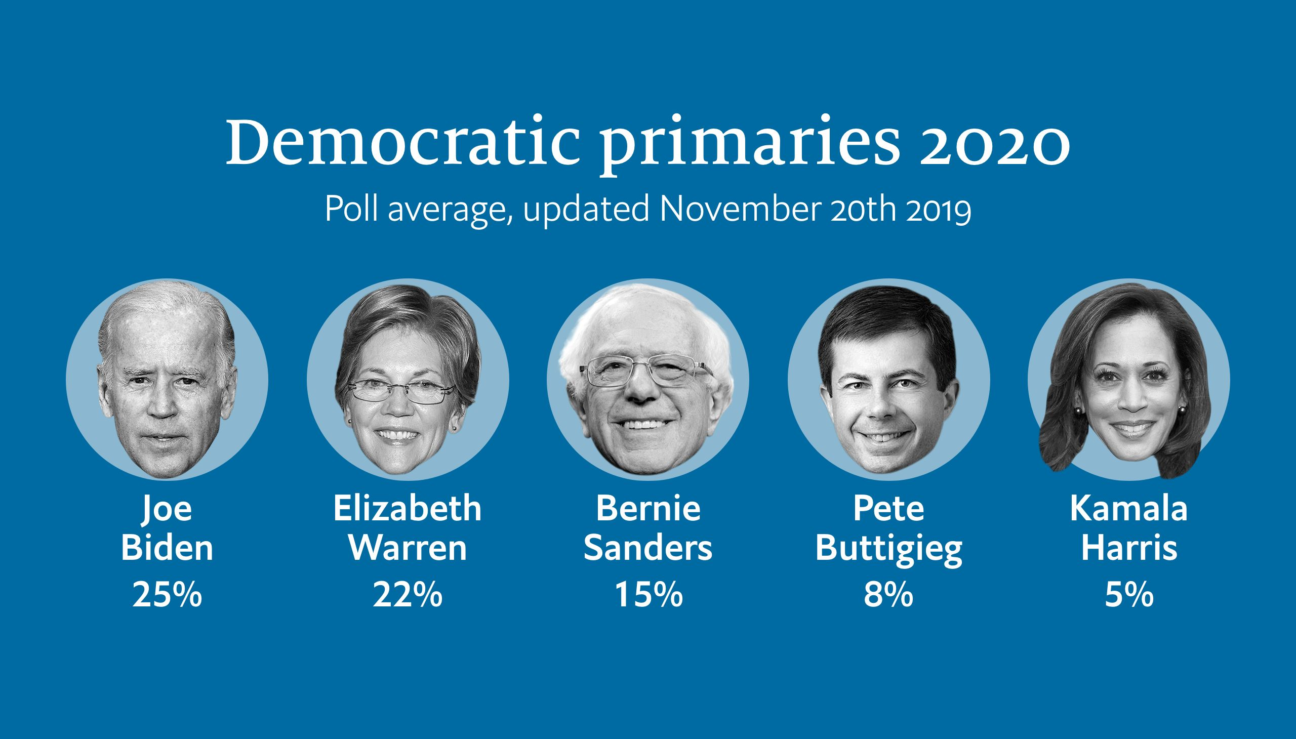 Who is ahead in the Democratic primary race?
