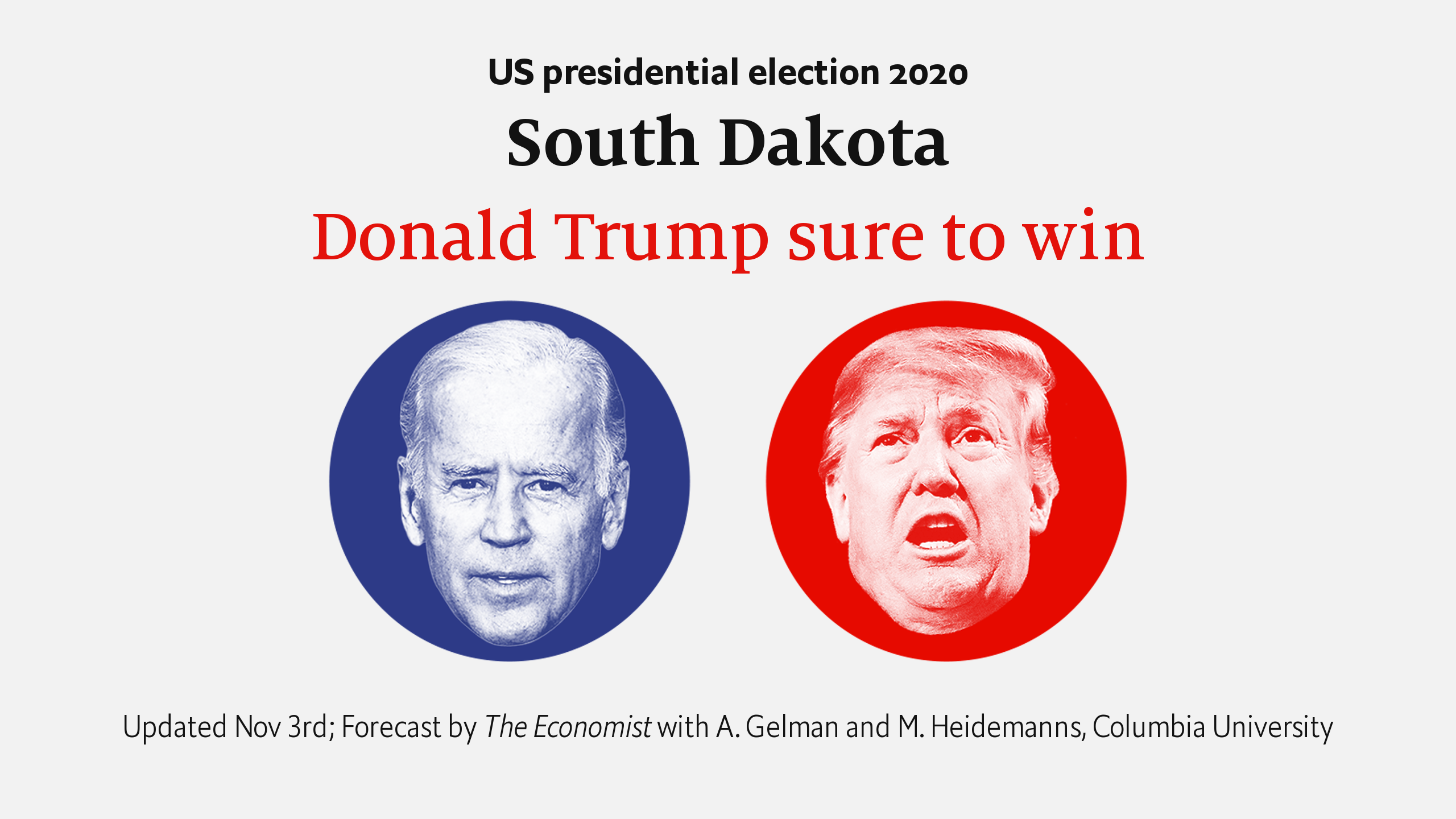 Picture of: South Dakota Forecasting The Us 2020 Elections The Economist